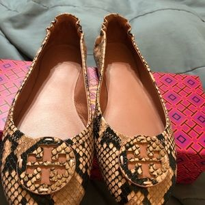 Tory Burch Ballet Slides Size 8 1/2 worn once